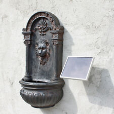 Solar Springbrunnen Solarbrunnen Gartenbrunnen Zierbrunnen Löwe mit Solarpumpe