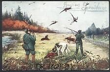 CPA 1914 Hunter Hunting Jäger Jagd Dog Hund Pies Perro Pheasant Bird Vogel z830