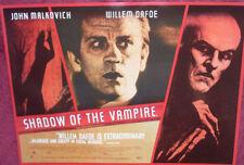 Cinema Poster: SHADOW OF THE VAMPIRE 2000 (Quad) Willem Dafoe John Malkovich