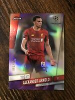 2019/20 Topps Finest UEFA Trent Alexander-Arnold Purple Refractor 186/250 📈