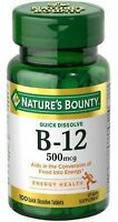 Nature's Bounty Vitamin B-12 500 mcg, 100 ea (Pack of 2)