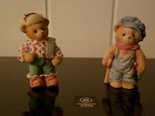 """Set of 2 Enesco Bear Figurines """"Canada"""" and Tiny Ted-Bear Collectible"""
