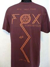 New Fox Racing Men Centaur Premium Tee Heather Burgundy T Shirt Large #21-34