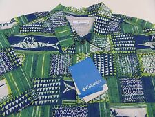 New Columbia Trollers Best PFG Vented Fishing Shirt Mens Size Small S