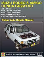 1992 Isuzu Rodeo Haynes Online Repair Manual-Select Access
