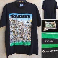 49066d380 Vintage LA Raiders T-Shirt 1991 John Holladay L 90s Grafix Made In USA 1990s