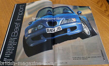 BMW Car March 1998 - BMW E38 Alpina B12 BMW Z3 M roadster sequential 'box E36 M3