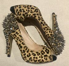 Animal Print Leather ZU Heels for Women