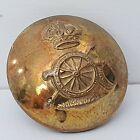 Kings crown Royal Artillery 19mm brass gilt  button Stamp Gaunt WW1