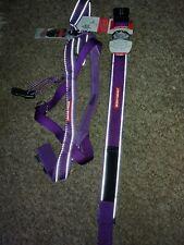 EZYDOG Quick Fit Dog Harness + collar One Click Adjustable adjustable purple NEW