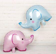 "Large 24"" Elephant foil balloon pink blue boy girl baby jungle animal 61cm inch"