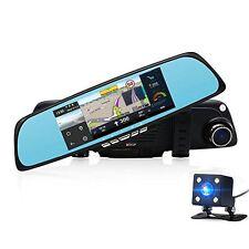 NEW Car Camera DVR 6.86 Dual Lens Dash Cam Car GPS Navigation Rearview Mirror