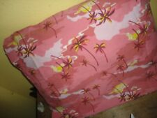 SPRINGS PINK YELLOW PALM TREES HIBISCUS TROPICAL (1) STANDARD PILLOWCASE 19 X 29
