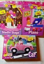 3 sets  Piano Car Studio Stage  Building Blocks Set  New 6+ Total pieces 223