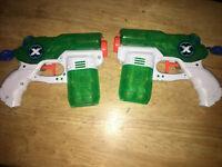 2 Zuru X Shot Water Blaster Stealth Soaker Water Shooting Warfare Squirt Gun Toy