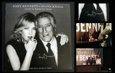 """TONY BENNETT SIGNED Vinyl """"Love is Here to Stay"""" w/ Diana Krall, event photos!"""