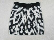 Sahalie Women's Small Skirt Athletic Skirt W/ Lining Black White Polyester