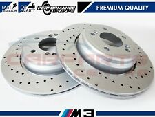FOR BMW M3 E46 3.2 2000-2007 REAR PERFORMANCE DRILLED PREMIUM BRAKE DISCS 328mm