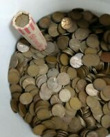 S Mint Lincoln Wheat Cent Penny 50 Coin Roll BRONZE 1940-1955 Circulated