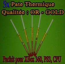 5 x Pate Thermique OR - GOLD CPU INTEL, AMD, CPU , GPU , PS3 , XBOX 360
