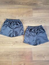 MATALAN Boys Two PE Black School Shorts Size 8 - 9 Years Old