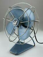 Vintage Art Deco Torcan Electric Table Fan Metal Cage Working Model 852F U674