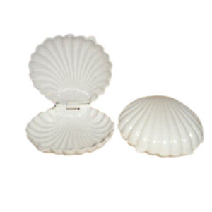 12 Extra Large Plastic Shell Candy Boxes favors White