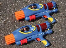 Nerf Airtech 4000 AT4K 12 Dart Shot Air Tech Pump Pressure Gun LOT 2 RARE TESTED