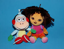 "DORA The EXPLORER & BOOTS The MONKEY DOLLS 8"" TY BEAN BAG PLUSH"