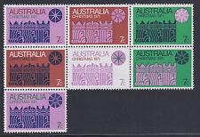 Australia Sc 508 Mnh. 1971 Christmas issue, se-tenant block of 7