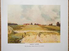 Sandy Lodge Golf Course Print Facsimile Of Original 1910 Harry Rountree