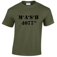 MASH 4077th Mens T-Shirt TV Show Programme US retro Medics Marines Fancy Dress