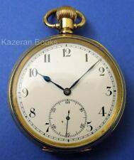 Vintage Gold Plated 17 Jewel Open Face Top Wind Fob Pocket Watch