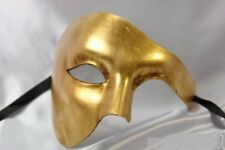 PHANTOM OF THE OPERA MASQUERADE MARDI GRAS COSTUME HALF FACE MASK BLACK WHITE