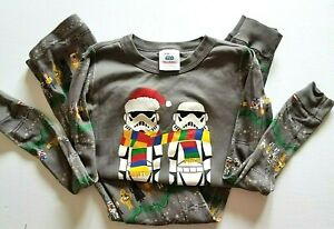Hanna Andersson Star Wars 2-Piece Pajamas US 10 Organic Cotton Long Johns Xmas