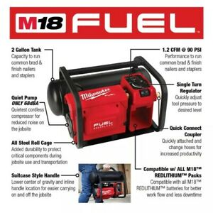 Milwaukee M18 FUEL 18V Li-Ion Cordless 2 Gal. Electric Compressor (Tool Only)
