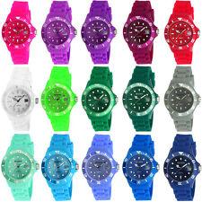 Uhr Armbanduhr Damenuhr Herrenuhr Bunt Silikon Gummi Silikonuhr Gummiuhr Schwarz