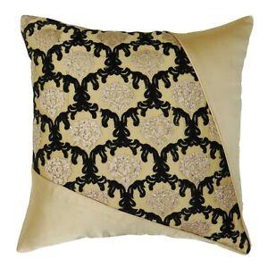 S4Sassy Decor Handmade Pillowcase Ivory Beige Cushion Cover Satin-vih