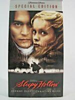 Sleepy Hollow Johnny Depp Christina Ricci Special Edition VHS Tape