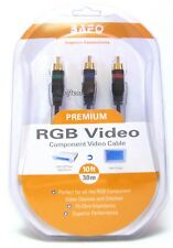 BAFO Premium 24K Gold Plated RGB Component Video Cable 10' 10FT NEW Retail Pack