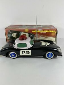 MF-798 AUSTIN WOODILL PD POLICE Tin Plated Friction Car China Black MIB`70!