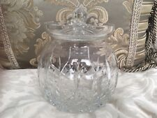 Waterford Lismore Round Biscuit Barrel Canister Cookie Jar Crystal