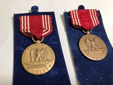 VINTAGE MILITARY MEDAL GOOD CONDUCT EFFICIENCY HONOR FIDELITY WWII FREE SHIPPING