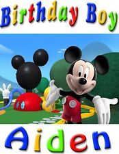 Custom Mickey Mouse Club House Birthday Boy T Shirt Party Gift Baby Name