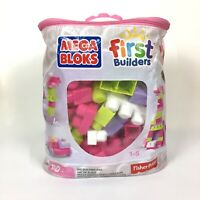 Mega Bloks First Builders Fisher Price 80 Pieces Ages 1-5 in Original Bag