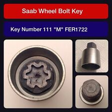 "Genuine Saab locking wheel bolt / nut key FER 1722 111 ""M"""