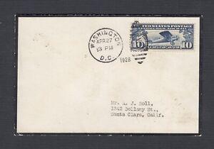 USA 1928 10C MOURNING COVER IN MEMORIAM FLOYD BENNETT ADMIRAL BYRD'S PILOT