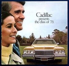 Prospectus brochure 1973 Cadillac Fleetwood Brougham * Eldorado * Deville (USA)