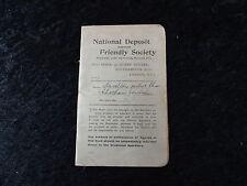 1928 National deposit friendly society book - Chatham, Kent