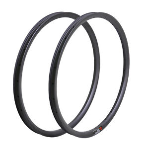 2pcs 29er MTB Carbon Clincher Rim 35mm UD Matt 32H Tubeless Mountain Wheel 25mm